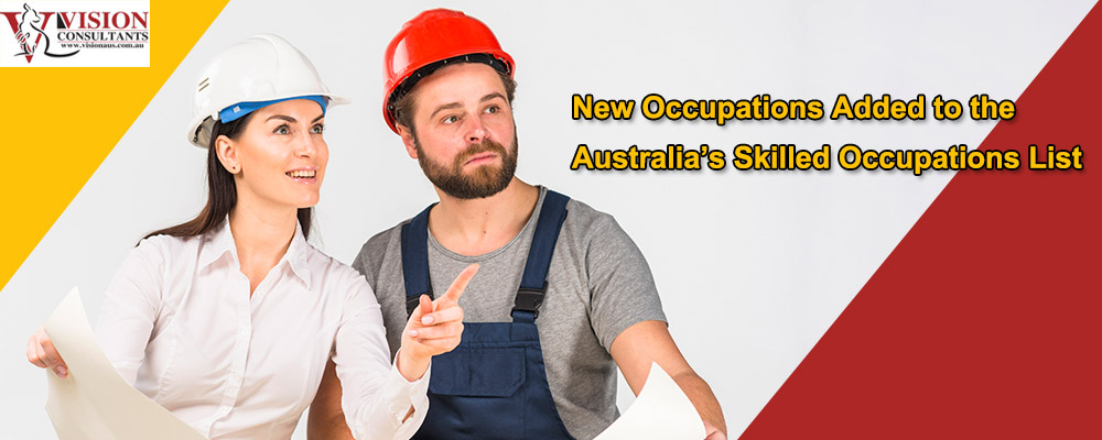 New Occupations Added to the Australia's