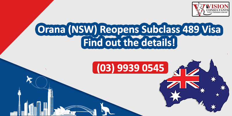 Orana (NSW) Reopens Subclass 489 Visa - Find out the details